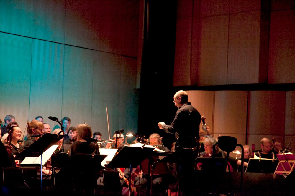 Jonathan Williams conducting the OAE at the QEH