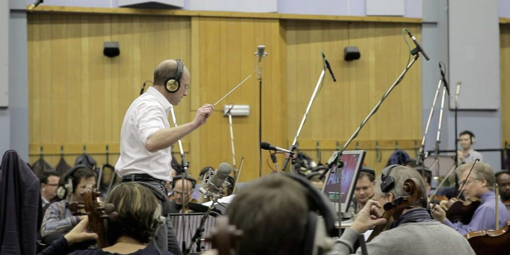 Jonathan Williams conducting the KillZone 2 soundtrack at Abbey Road Studios